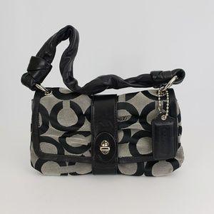 Coach Signature Leather/Canvas Handbag